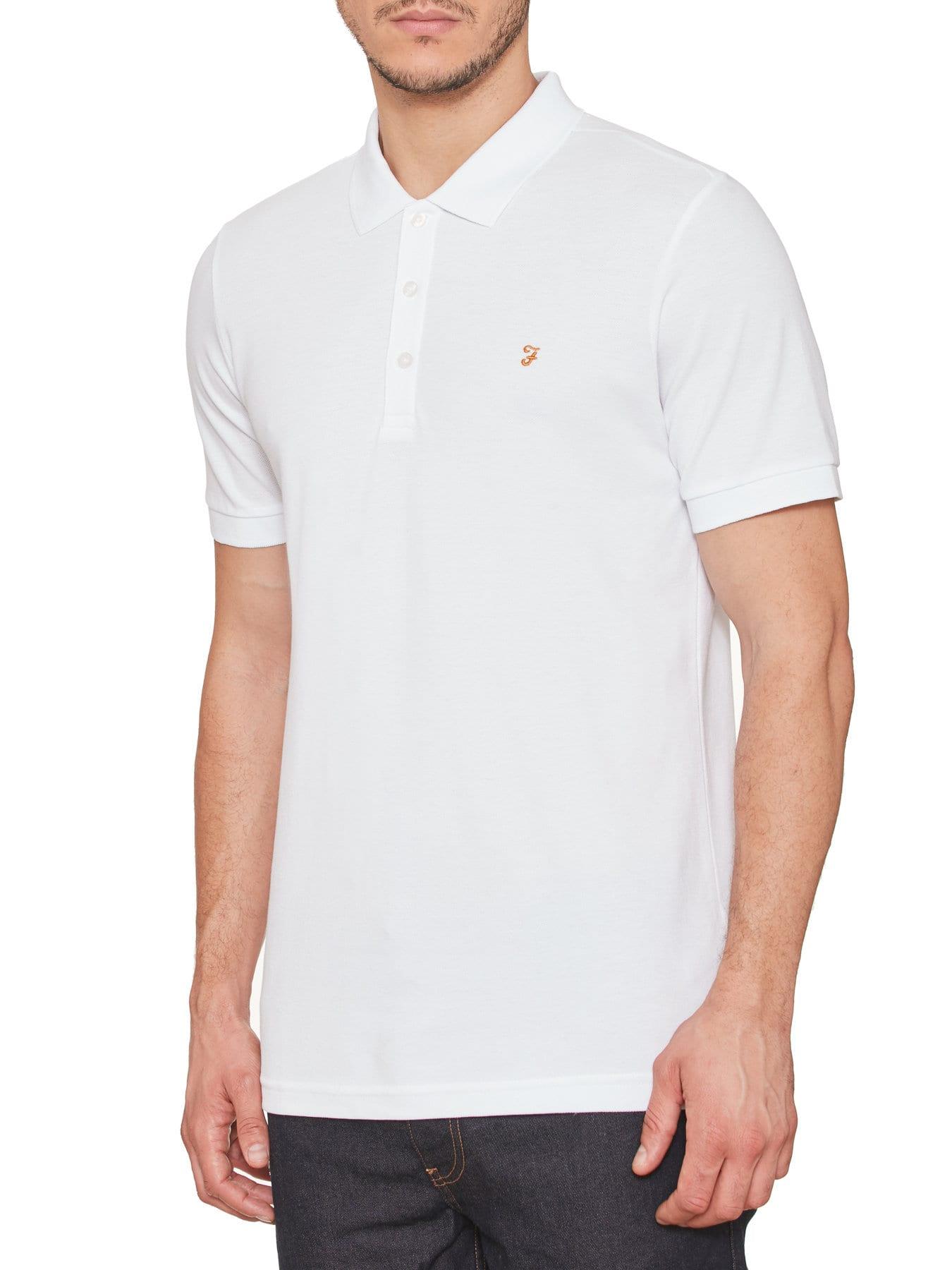 a5a2f4a77 Farah - Polo Blaney blanco - Regaliz Funwear