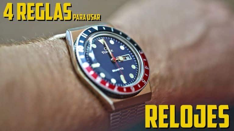 4 Consejos para usar relojes de hombre